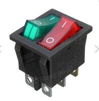 6 Pin Doppio SPST On / Off Interruttore a bilanciere Rosso Verde LED AC 250 V