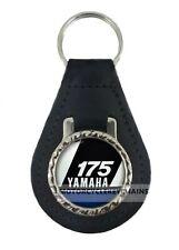 YAMAHA DT 175  leather motorcycle keyring keychain