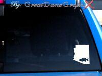 Arizona Largemouth Bass Fishing State Vinyl Decal Sticker / Color - HIGH QUALITY
