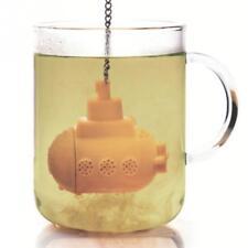 Silicone Mini Submarine Tea Loose Infuser Chain Filter Diffuser Strainer