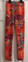 LuLaRoe Girls Size L XL Halloween Leggings Candy Zoiks Spoofs Wowzerz Orange