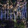30/50cm Meteor Shower Rain 144/240 LED Lights 8 Tubes Snowfall Tree Waterproof