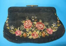 SAC SOIRÉE BRODÉ MAIN VINTAGE evening bag 1930s