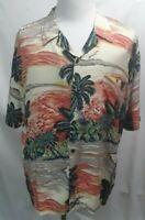 Vintage Pineapple Connection Men's Hawaiian Shirt Palm Beach Size L Large