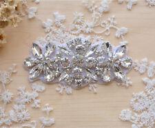 Wedding Accessories Trimming Flower Bridal Dress Applique Beaded Motif Diamante