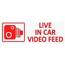 5 X en coche cámara de grabación advertencia stickers-cctv sign-van Taxi Mini cab-30mm-rw