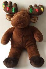 Build A Bear Hal Moose Soft Reindeer Christmas Light Up Antlers Plush Toy