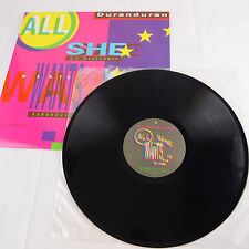 1987 Duran Duran - All She Wants Is LP Single Record V 15434 - Capitol Records