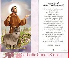 St Francis of Assisi - Peace Prayer of Saint Francis - Paperstock Holy Card
