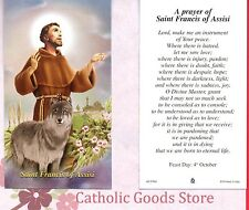 St. Francis of Assisi - Peace Prayer of Saint Francis - Paperstock Holy Card