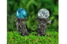 Miniature Dollhouse Fairy Garden - Stump Gazing Balls Set of 2 - Accessories