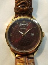 INVICTA VINTAGE - GOLD CASE WITH BROWN TONE LEATHER BAND MODEL 18471