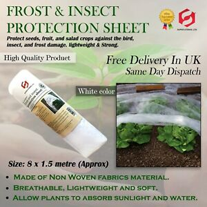 Plant Cover Frost & Insect Protective Fleece Transparent Sheet Roll Garden Plant