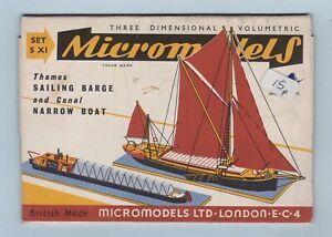 Model Kit - Thames Sailing Barge and Canal Narrow Boat (Micromodels Ltd.)
