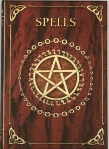 Nemesis Now Embossed RED SPELL BOOK Shadows Pentagram Pagan Wicca Witch Journal