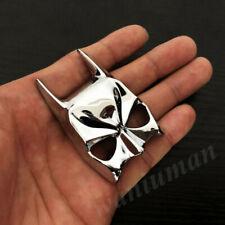 3d Metal Chrome Batman Dark Knight Mask Face Car Emblem Badge Decals Sticker