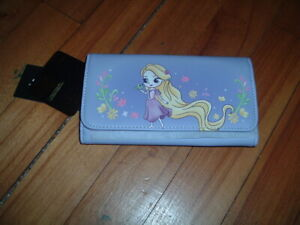 LOUNGEFLY DISNEY RAPUNZEL CHIBI FLAP WALLET~ WITH TAGS~BRAND NEW~