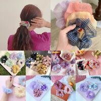 Lady Hair Scrunchies Bun Ring Elastic Fashion Bobble Dance Scrunchie Accessories
