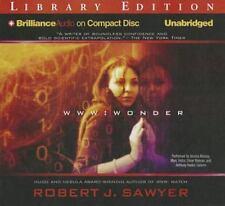 WWW: Wonder  WWW Trilogy  2012 by Sawyer, Robert J. 1455884154 Ex-library