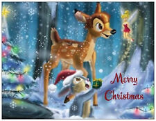 20 CHRISTMAS Bambi THUMPER Tinkerbell DISNEY 5.5X4 Flat CARDS Envelopes Seals