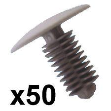 50x GRIGIO Pannello Trim Clips - 9-10mm Foro - 24mm HEAD