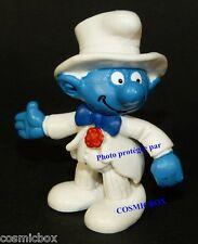 Figurine Le SCHTROUMPF en COSTUME blanc 1991 Schleich Puffi figure Smurf figuren