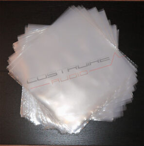100 Buste per 33 GIRI LP in POLIETILENE 100 micron dj vinili