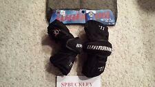 Warrior Nation 11 Lacrosse Arm Guards - Black - medium, naag11m