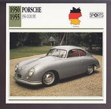 1950-1955 Porsche 356 Coupe Car Photo Spec Sheet Info CARD 1951 1952 1953 1954