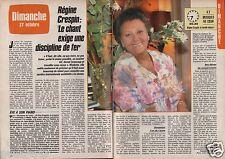 Coupure de presse Clipping 1985 Régine Crespin  (2 pages)