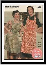 1950s Bib Apron Vintage French Sewing Pattern Copy