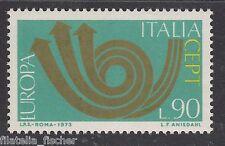 "ITALIA REP. 1973 EUROPA VARIETA' ""CORNO IN BRONZO"", N. 1218a, NUOVA**MNH RIF C59"