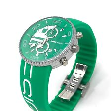 MomoDesign Jet Chronograph Watch Green 43 mm Aluminium Case Silicon Bracelet