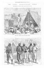 1878-Afghanistan guerra soldati uniformi del Bengala Fanteria leggera meean Meer (225)