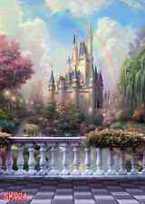 OUTDOOR  The fairy tale Castle 5x7 FT CP PHOTO SCENIC BACKGROUND BACKDROP SK024