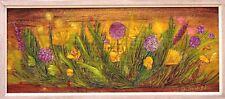 Tableau fleurs par J Saint Blaise vers 1970