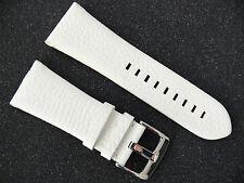 Herren Uhrenarmband Echtleder 30 mm Weiss DIESEL Uhren ADZ DZ 1705 ersatzband