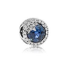 Genuine Sterling Silver Pandora Blue Dazzling Snowflake Charm 796358NTB