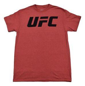 UFC Mens Black Print On Red Heather MMA Shirt New S, M, L, XL