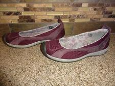 Womens Sz 7 EUR 37.5 KEEN Purple Leather/Mesh Flats Shoes