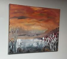 """""""MIGRATION""""  Original Acrylic PAINTING - Surreal Abstract Landscape 16"""" x 20"""""""