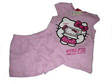 NUOVO grande Shorty / Pigiami corti Tgl 86 / 92 rosa con Hello Kitty Motivo