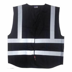 Black High Visibility Vest | Executive Hi Vis Vest | Brand New | Large