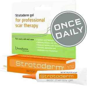 Strataderm 10g Gel For Professional Scar Therapy, Old and New Scars Stretchmarks