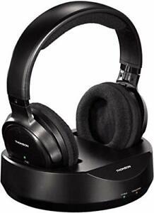 Thomson kabelloser Funk-Kopfhörer mit Ladestation Schwarz