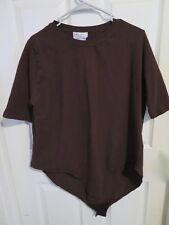 Women's Ulla Popken Stretch Solid Brown Slim Fit Body Suit Shirt Plus Size 24/26