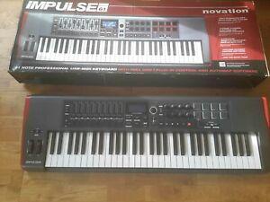 Novation Impulse 61 Key USB MIDI Keyboard Controller - Used in VGC.
