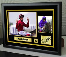 "Frankie Dettori Limited Edition Framed Canvas Tribute Print Signed ""Great Gift"""