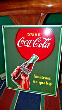 Ande Rooney Coca Cola Porcelain Advertising Sign