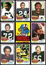 1976 Topps PITTSBURGH STEELERS Team Lot HANRATTY HOLMES RUSSELL WAGNER WHITE